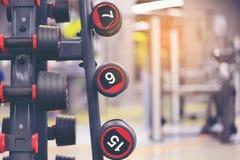 Domoren en divers materiaal voor oefenings sterke spier in FI royalty-vrije stock foto