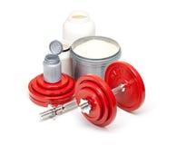 Domoren en supplementen voor de lichaamsbouw Stock Fotografie