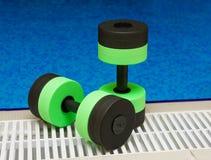 Domoren voor Aerobics Aqua Stock Afbeelding