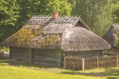 Domostwo, typowy dla 19t wieka regionu lithuanian DzÅ 'kij Obrazy Royalty Free