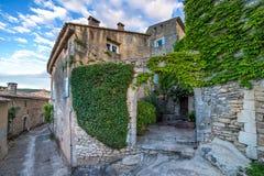 Domowa ściana z zielonymi liśćmi Obrazy Royalty Free