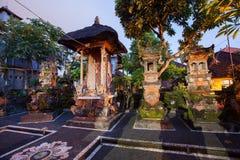 Domowa świątynia w jeden jardy Ubud miasteczko zdjęcie royalty free