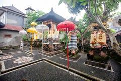 Domowa świątynia w jeden jardy Ubud miasteczko zdjęcia royalty free