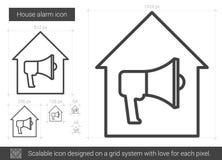 Domowa alarm linii ikona Obrazy Stock