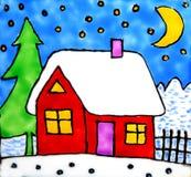 domowa artystyczne zimy. Zdjęcie Stock