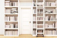 Domowa biblioteka z drabiną Obrazy Royalty Free
