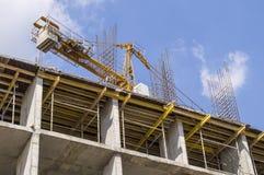 Domowa budowa, żuraw Zdjęcia Royalty Free