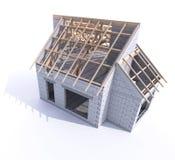 Domowa budowy dekarstwa scena zdjęcia royalty free