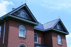 domowa czerwona solidnie cegły Obraz Stock