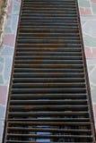 Domowa drenaż wody rynny siatka Zdjęcia Royalty Free
