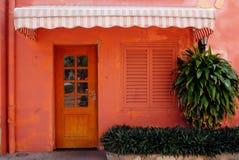 domowa drzwi czerwień Fotografia Stock