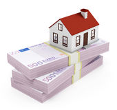 Domowa hipoteka - euro Zdjęcie Stock