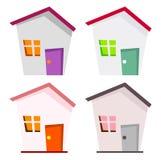 Domowa ikona Fotografia Stock