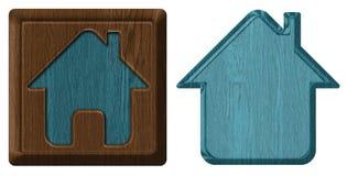 Domowa ikona, etykietka Fotografia Royalty Free