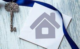 Domowa ikona i klucze Fotografia Royalty Free
