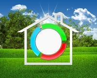 Domowa ikona i stylizujący guzik Obraz Stock