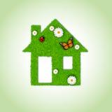 Domowa ikona od trawy tła Obraz Stock