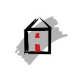 Domowa ikona, symbol Zdjęcia Royalty Free