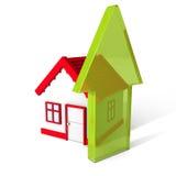 Domowa ikona Z Powstającą strzała koncepcja real nieruchomości Zdjęcia Royalty Free
