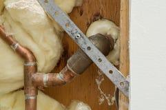 Domowa instalaci wodnokanalizacyjnej naprawa Zdjęcie Stock