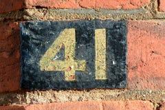 Domowa liczba 41 Obrazy Royalty Free