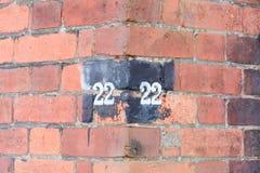 Domowa liczba 22 Obrazy Royalty Free