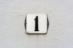 Domowa liczba 1 Fotografia Stock