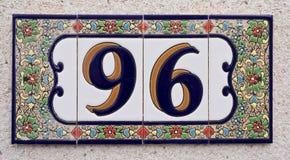 Domowa liczba Obrazy Royalty Free