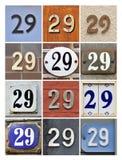 Domowa liczba 29 Fotografia Stock