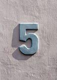 Domowa liczba 5 Obrazy Stock