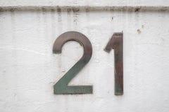 Domowa liczba 21 Zdjęcia Stock