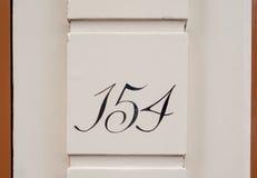 Domowa liczba Zdjęcia Stock