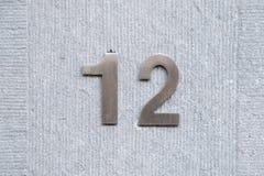 Domowa liczba 12 obraz stock