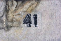 Domowa liczba 41 obraz royalty free