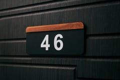 Domowa liczba czterdzieści sześć fotografia stock