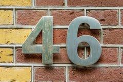 Domowa liczba 46 obraz stock