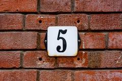 DOMOWA liczba PIĘĆ 5 Fotografia Royalty Free