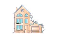 Domowa mieszkanie stylu wektoru ilustracja W miękkich kolorach royalty ilustracja