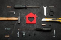 Domowa narzędziowa nieruchomość, istna władzy budowa, remontowy pojęcie zdjęcie royalty free