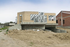 Domowa nowa budowa Obrazy Stock