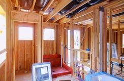 Domowa nowa mieszkaniowej budowy domu otoczka obrazy royalty free
