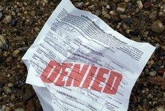 domowa odrzucić wniosek pożyczki Obraz Royalty Free