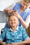 domowa pielęgnacja Zdjęcia Royalty Free