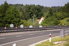 Domowa pobliska autostrada Fotografia Stock