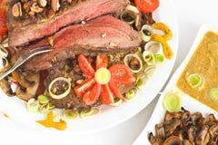 domowa posiłku mięsa pieczarka Zdjęcie Royalty Free
