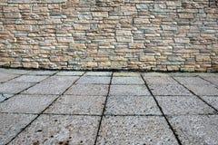 Domowa powierzchowność Z Kamienną ścianą i podłoga Obraz Stock