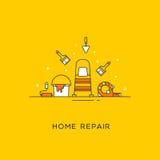Domowa remontowa kreskowa sztuka Zdjęcia Stock