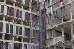 Domowa rozbiórka, przekrój poprzeczny przez budynku Zdjęcia Stock