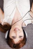 domowa słuchająca muzyka Zdjęcia Stock
