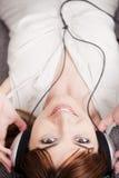domowa słuchająca muzyka Zdjęcie Royalty Free
